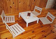 Набор деревянный чайно-кухонный, восточный стиль ( стол, четыре стула )