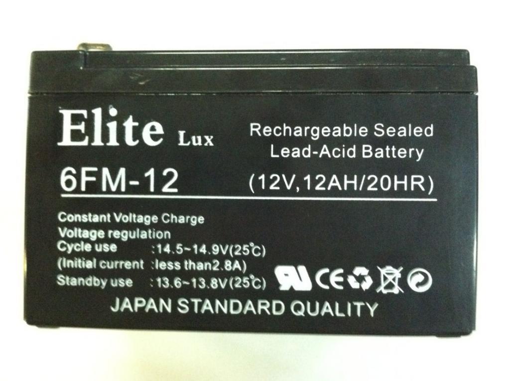 Аккумулятор Elite 6FM-12 (12v,12AH/20HR)