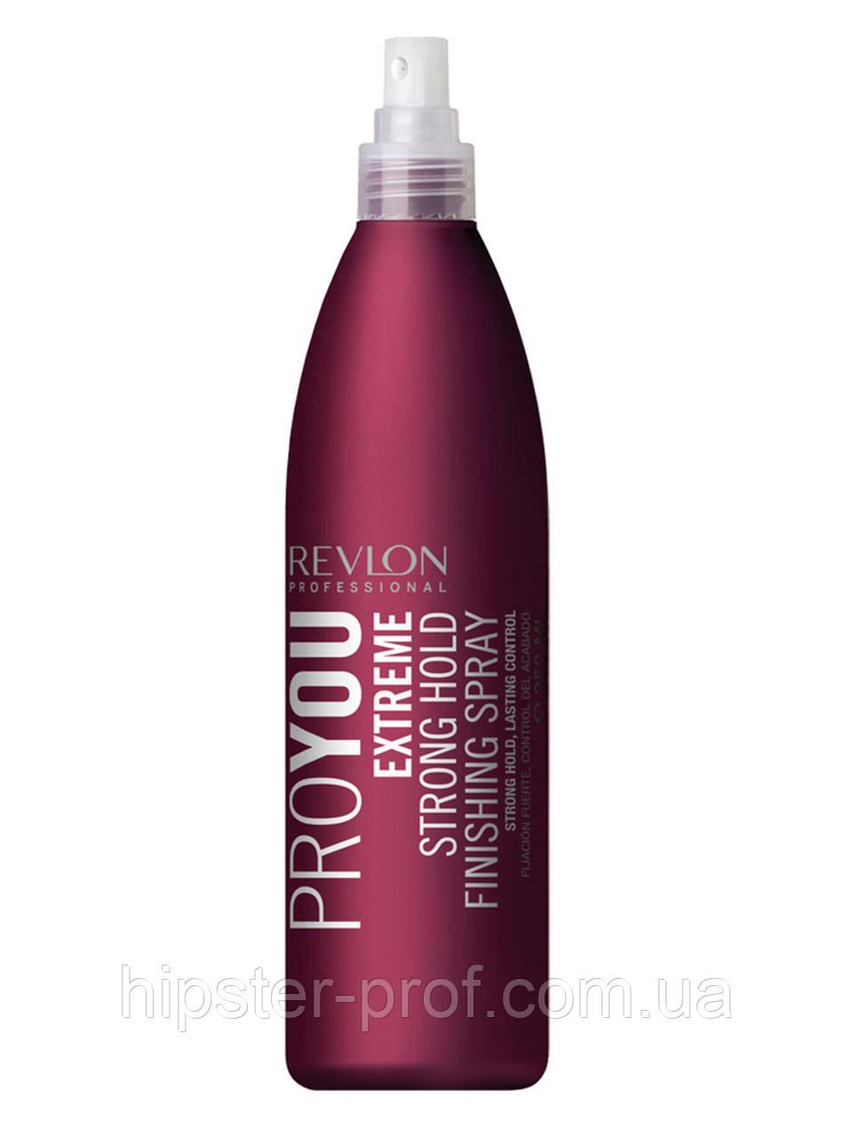Лак сильной фиксации без аэрозоля Revlon Professional Pro You Extreme Strong Hold Finishing Spray 350 ml