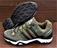 Зеленые хаки мужские кроссовки Adidas Terrex