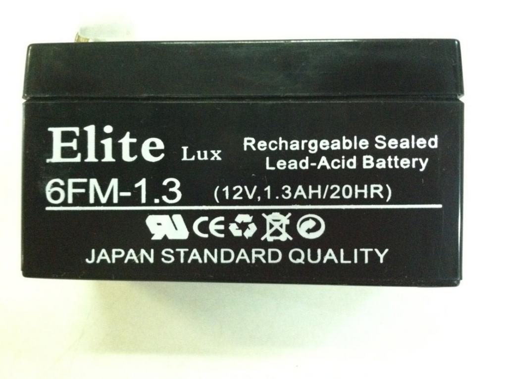 Аккумулятор Elite 6FM-1,3 (12v 1,3AH/20HR)