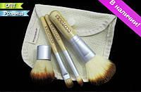 """Кисточки кисти """"4 ECOTOOLS"""" для макияжа с бамбуковыми ручками"""