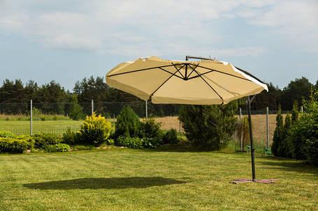 Садовый зонт Furnide бежевый,300 см., фото 2