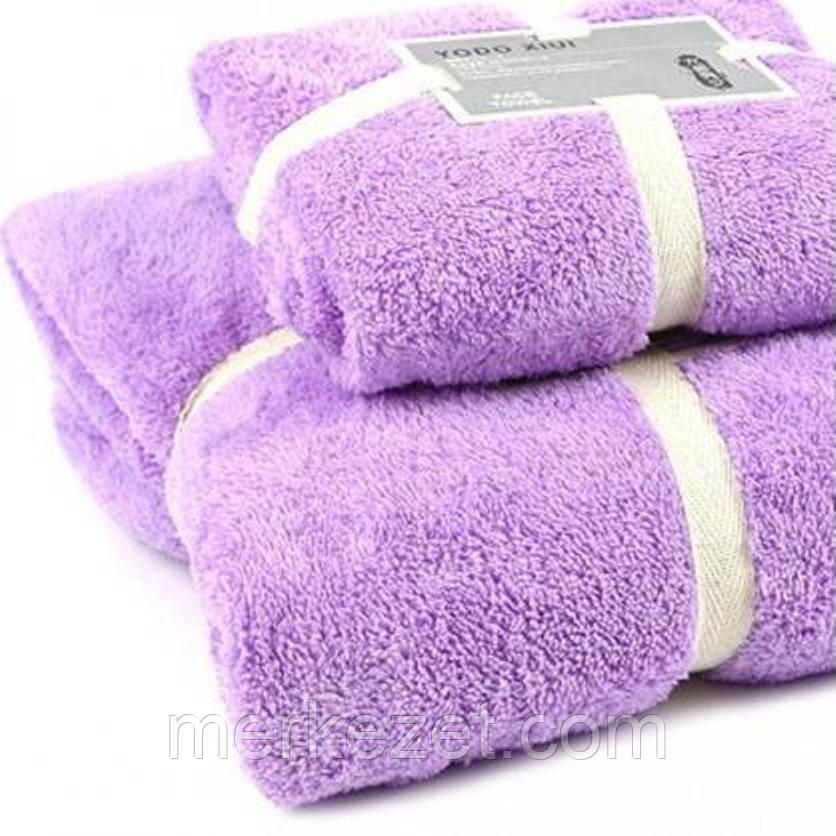 """Комплект полотенец микрофибра. Банное и кухонное полотенце """"Гурюм"""". Два полотенца, комплект"""