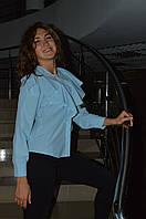 Женская молодежная  блуза рюша Турция