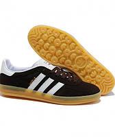 Мужские кроссовки Adidas Gazelle Indoor коричневые