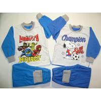 Теплая детская пижама (начес) на мальчика  34 размер (122-128 см). Теплая пижама, зимняя пижама