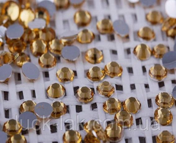 Стразы для ногтей 2 мм, 100 шт, золотые