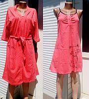 Женский комплект халат и сорочка с кошкой, женские комплекты оптом от производителя