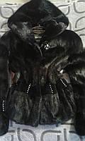 Шуба женская натуральная норка Черная (С-М-44)