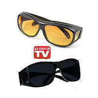 ЛУЧШАЯ ЦЕНА! Очки антифары для водителей HD Vision 1 шт., водительские очки купить в интернет-магазине, очки антифары, очки для водителей