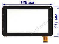 Тачскрин, сенсор планшета Globex GU 701R (черный/белый) 186*111 мм