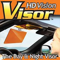 Антибликовый солнцезащитный козырек для автомобиля Клир Вью HD Vision Visor 1001005 защитный козырек для зеркал автомобиля, козырек для автомобиля hd
