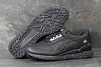 Кроссовки в стиле Asics Gel (синие) кожанные кроссовки асикс