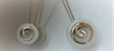 Магнит-подхват для штор ручной работы двухсторонний (Д - белый)