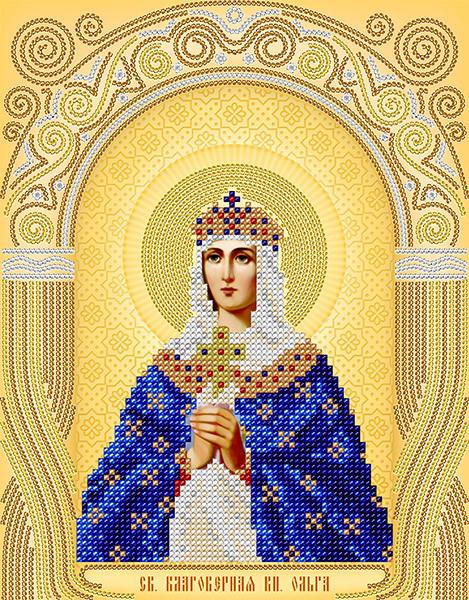 Рисунок на атласе для вышивания бисером АС4-035 Св. Блгв. Княгиня Ольга