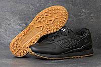 Кроссовки в стиле Asics Gel (черные) кожанные кроссовки асикс