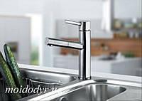 Кран для кухни с выдвижным душем Blue Water Arada inox (нержавеющая сталь)