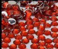 Стразы для ногтей 2 мм, 100 шт, красные