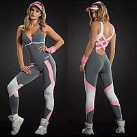 Женский спортивный комбинезон с открытой спиной