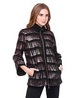 Куртка 44393 PRINT VET 037, Цвет Темно-коричневый, Размер M