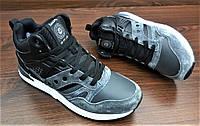 Мужские серые с черным зимние кроссовки Saucony G.R.I.D