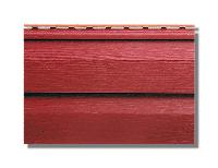 """Сайдинг акриловый, """"Канада плюс"""" 3660х230х1,2 мм, красный """"Премиум""""."""