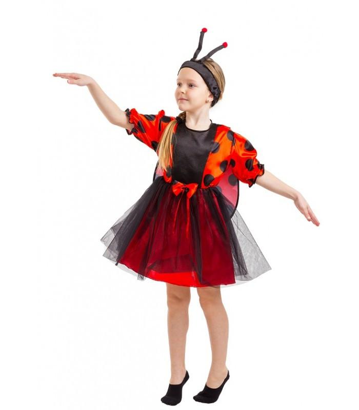 Карнавальный костюм Божьей коровки для девочки  (4-7 лет)