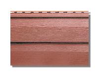 """Сайдинг акриловый """"Канада плюс"""" 3660х230х1,2 мм, красно-коричневый """"Премиум""""."""