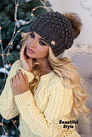Женская шапка Эвелина темно-серый