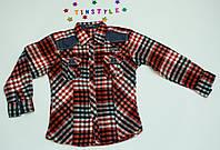 Теплая рубашка  для мальчика на рост 110-152 см