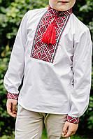 """Гарна Вишита сорочка для хлопчика """"2111"""" червона"""