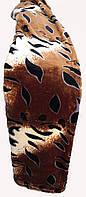 Качественный плед-покрывало-простынь с микрофибры Nanhwa Коричневое