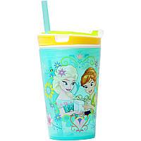Стакан непроливайка 2 в 1 с трубочкой Frozen Disney Хит продаж!