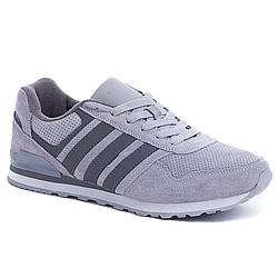 Кроссовки Adidas Серые Blue (41-45) (качественная реплика)