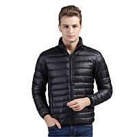 Куртка пуховик мужская демисезонная, размер М (черная)