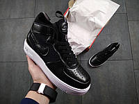 Кроссовки Nike Air Force Black / white  replica AAA