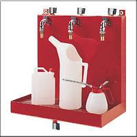 Flexbimec 2300 - Настенный комплект для раздачи масла и антифриза с тремя кранами