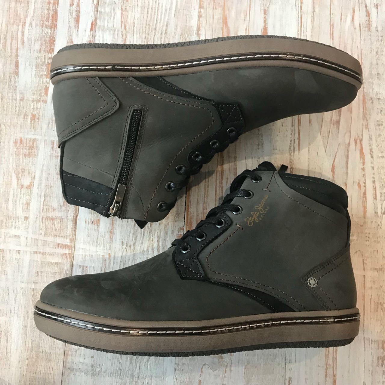 Шкіряні черевики Belvas арт 17173 олів розміри ,44