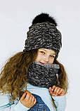 Детская шапка (набор) ДЖАДИС для девочек оптом р. 52-54, фото 2