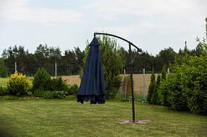 Садовый зонт Furnide темно-синий,300 см., фото 3