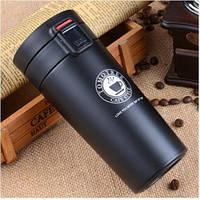 Термокружка вакуумная для горячих и холодных напитков 380 мл черная, фото 1