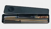 Набор для чистки MegaLine 082/404.5. кал. 4.5 латунный шомпол. 2 ёршика. шерстяная пуховка. пласт. коробка (08/404.5)