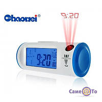 ТОП ВИБІР! Цифровий годинник, проекційні годинники, годинник будильник з проектором, Chaowei, годинник з проектором, 1000390