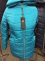 Зимняя теплая женская куртка большого размера (52-56)