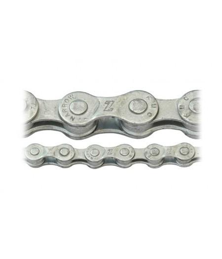 Цепь инд. 116 зв. KMC Z51 Silver/Silver 7ск