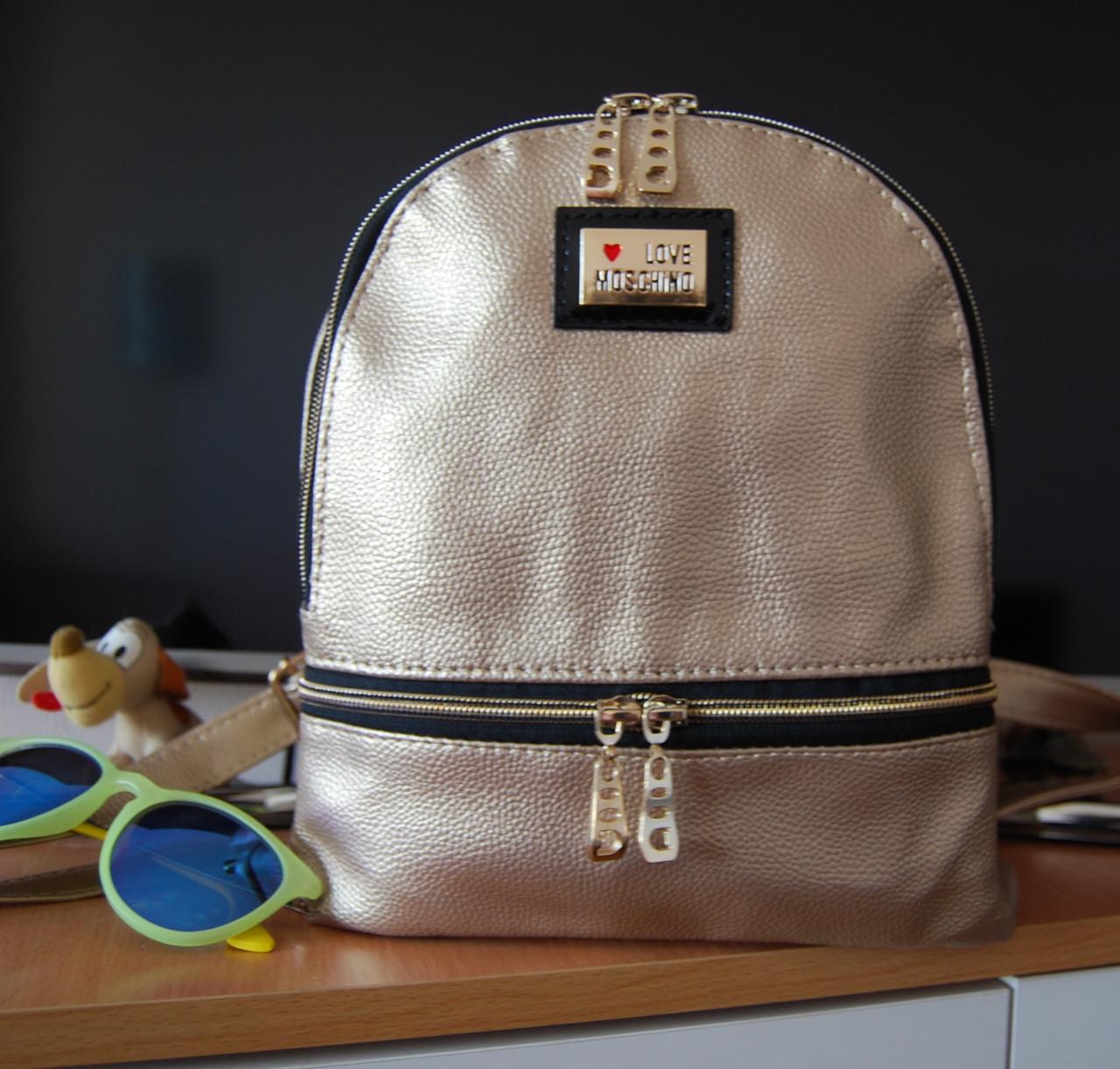 Женский рюкзак Moschino. Городской рюкзак. Стильный рюкзак. Молодёжный рюкзак. Лучшие рюкзаки., фото 1