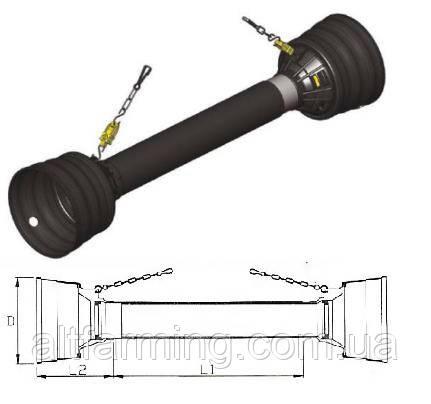 Захистний Кожух карданного валу серія L04 560х303