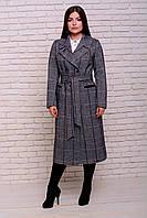 Осеннее стильное  полуприталенное классическое пальто  ОКСФОРД