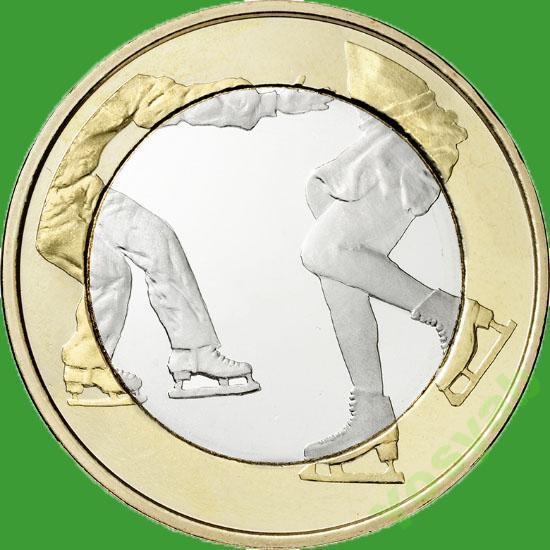 Финляндия 5 евро 2015 г. Фигурное катание .
